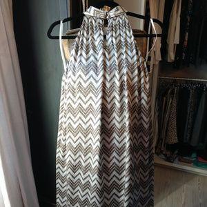 Antonio Melani 100% Silk High Neck Trapeze Dress